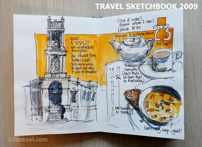 LizSteel-Trip2009-Edinbrugh-Travel-Sketchbook