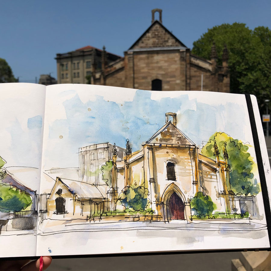 Sketching Architecture Tips: The Garrison Church